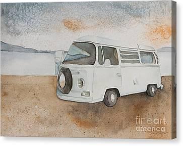 1969 Volkswagen Bus Canvas Print by Jordan Parker