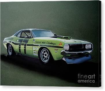 1970's Challenger Race Car Canvas Print by Paul Kuras