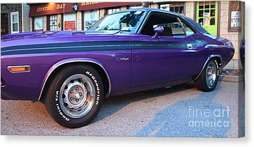 1971 Challenger Side View Canvas Print by John Telfer