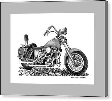 1971 Harley Davidson S O A Shovel Head F  L Canvas Print by Jack Pumphrey
