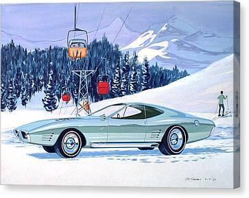 1972 Barracuda Cuda Plymouth  Vintage Styling Design Concept Rendering Sk Canvas Print by John Samsen
