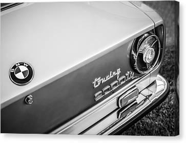 1972 Bmw 2000 Touring Tii Taillight Emblem -0159bw Canvas Print by Jill Reger