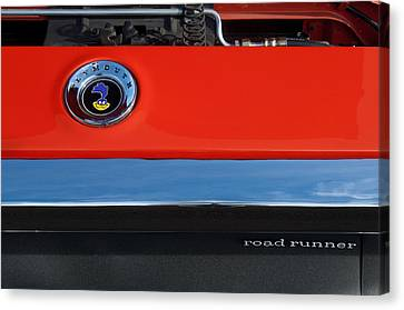1972 Plymouth Road Runner Hood Emblem Canvas Print by Jill Reger