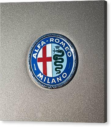 1973 Alfa Romeo Gtv Emblem -0226c55 Canvas Print by Jill Reger