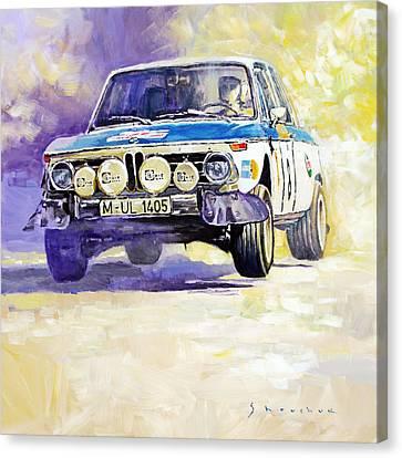 1973 Rallye Of Portugal Bmw 2002 Warmbold Davenport Canvas Print by Yuriy Shevchuk