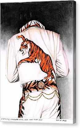 1974 Mad Tiger Suit Canvas Print by Rob De Vries