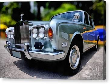 1974 Rolls Royce Silver Shadow Canvas Print by George Atsametakis