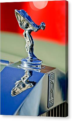 1976 Rolls Royce Silver Shadow Hood Ornament Canvas Print by Jill Reger