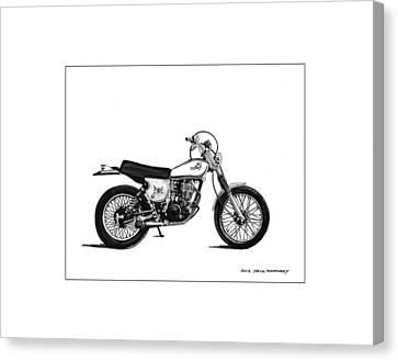 1976 Yamaha Tt Canvas Print by Jack Pumphrey