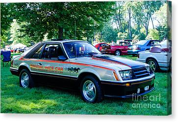 1979 Ford Mustang Indy Pace Car Canvas Print by Grace Grogan