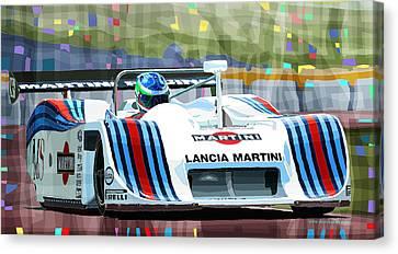 1982 Lancia Lc1 Martini Canvas Print by Yuriy  Shevchuk