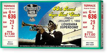 1982 Sugar Bowl Ticket Canvas Print by David Patterson
