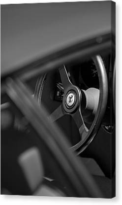 1984 Ferrari 512 Bbi Steering Wheel Emblem Canvas Print by Jill Reger