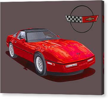 1986 Corvette Canvas Print by Jack Pumphrey
