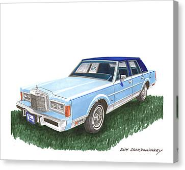 Classy 1989 Lincoln Towncar Canvas Print by Jack Pumphrey