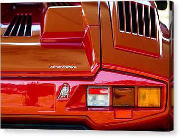 1990 Lamborghini Countach Taillight Emblem Canvas Print by Jill Reger