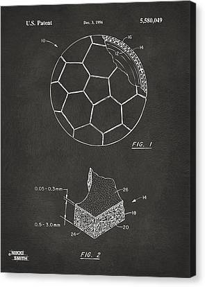 1996 Soccerball Patent Artwork - Gray Canvas Print by Nikki Marie Smith