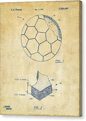 1996 Soccerball Patent Artwork - Vintage Canvas Print by Nikki Marie Smith