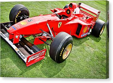 1997 Schumacher Ferrari F310 Canvas Print by Jesse Merz