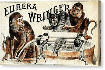 19th C. Eureka Wringer Canvas Print by Historic Image