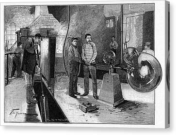 19th Century Glassblower's Workshop Canvas Print by Cci Archives