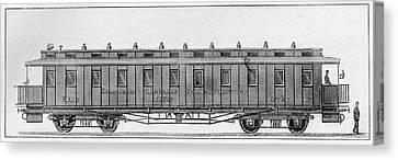 19th Century Railway Wagon Canvas Print by Cci Archives