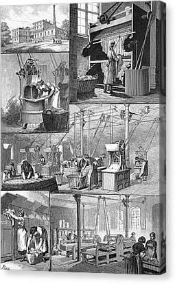 19th Century Steam Laundry Canvas Print by Bildagentur-online/tschanz
