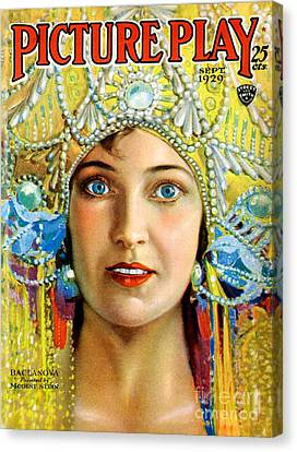 1920s Usa Picture Play Magazine Cover Canvas Print by The Advertising Archives