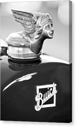 1928 Buick Custom Speedster Hood Ornament Canvas Print by Jill Reger