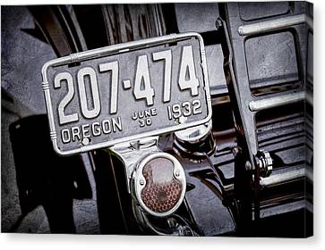 1932 Ford Model 18 Roadster Hotrod Taillight Canvas Print by Jill Reger