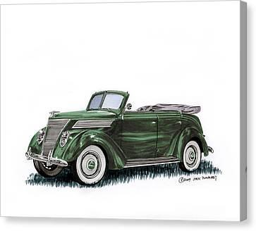 1937 Ford 4 Door Convertible Canvas Print by Jack Pumphrey
