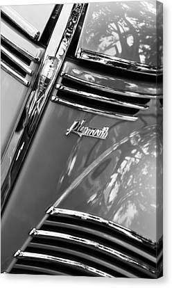 1940 Plymouth Deluxe Woody Wagon Grille Emblems Canvas Print by Jill Reger