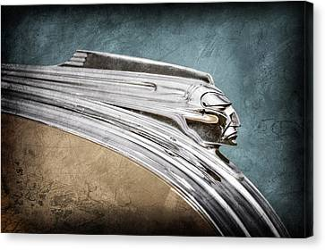 1941 Pontiac Hood Ornament Canvas Print by Jill Reger