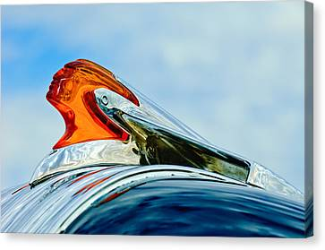 1950 Pontiac Hood Ornament Canvas Print by Jill Reger