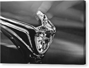 1956 Lincoln Premiere Convertible Hood Ornament Canvas Print by Jill Reger