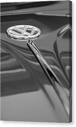 1956 Volkswagen Vw Bug Hood Emblem Canvas Print by Jill Reger