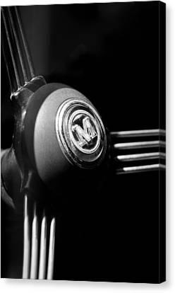 1960 Morris Minor Panel Delivery Truck Steering Wheel Emblem Canvas Print by Jill Reger