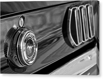 1969 Ford Mustang Taillights Canvas Print by Jill Reger