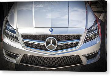 2012 Mercedes Cls 63 Amg Twin Turbo Bw Canvas Print by Rich Franco