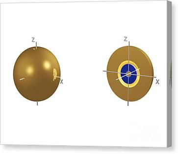 3s Electron Orbital Canvas Print by Dr. Mark J. Winter
