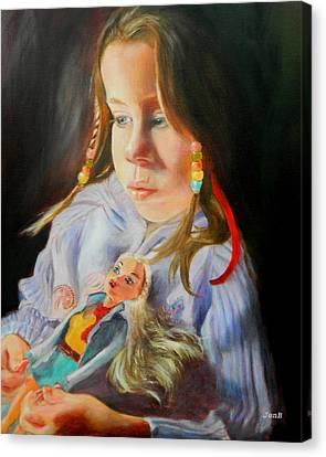A Secret Shared Canvas Print by Jennifer  Blenkinsopp