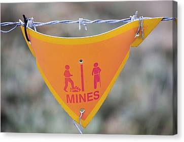 A Warning Sign About Mines Canvas Print by Ashley Cooper