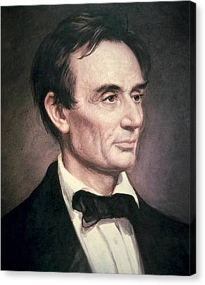Abraham Lincoln Canvas Print by George Peter Alexander Healy