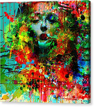 Abstract Portrait Canvas Print by Gary Grayson