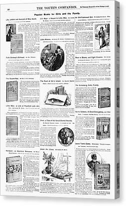 Advertisement Books, 1890 Canvas Print by Granger