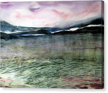 Alaskan Waters Canvas Print by Mindy Newman