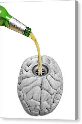 Alcoholism Canvas Print by Victor De Schwanberg
