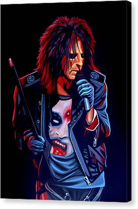 Alice Cooper  Canvas Print by Paul Meijering