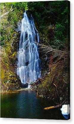 An Angel In The Falls Canvas Print by Jeff Swan