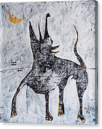 Animalia Canis No. 7  Canvas Print by Mark M  Mellon